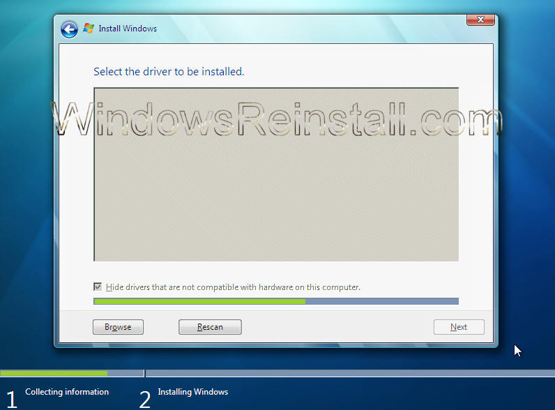 windows 7 load drivers during install